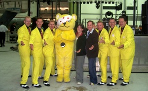 Jive Aces with Pudsey Bear